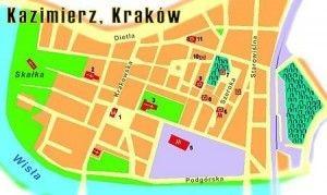 Map Kazimierz